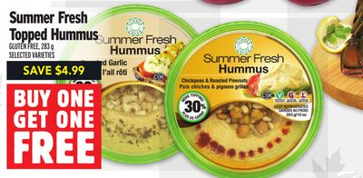 Summer Fresh Topped Hummus