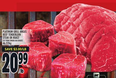 PLATINUM GRILL ANGUS BEEF TENDERLOIN STEAK OR ROAST