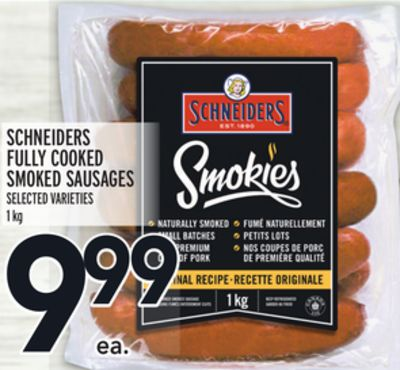 SCHNEIDERS FULLY COOKED SMOKED SAUSAGES