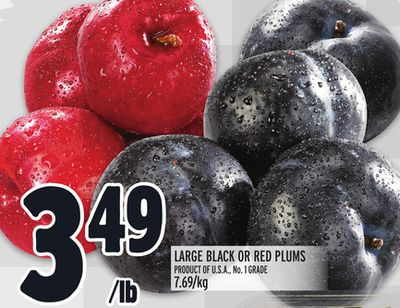 LARGE BLACK OR RED PLUMS