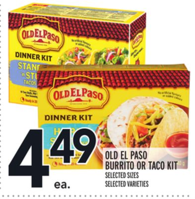 OLD EL PASO BURRITO OR TACO KIT