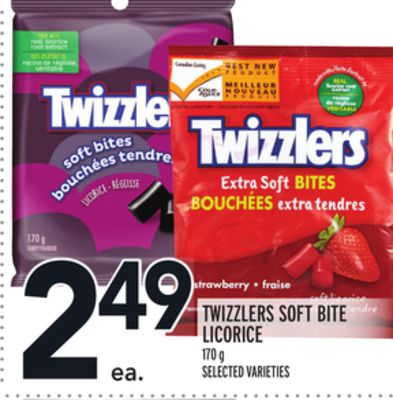 TWIZZLERS SOFT BITE LICORICE