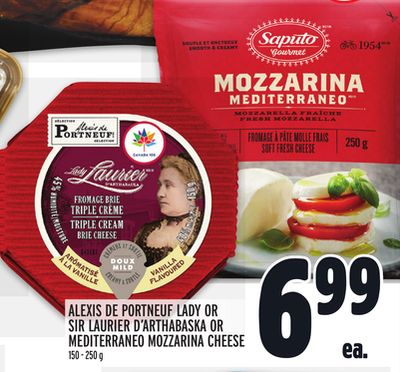 ALEXIS DE PORTNEUF LADY OR SIR LAURIER D'ARTHABASKA OR MEDITERRANEO MOZZARINA CHEESE