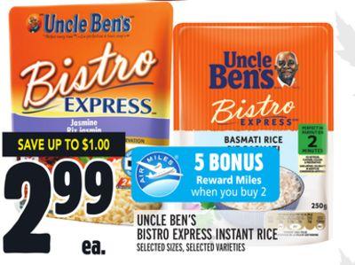 UNCLE BEN'S BISTRO EXPRESS INSTANT RICE