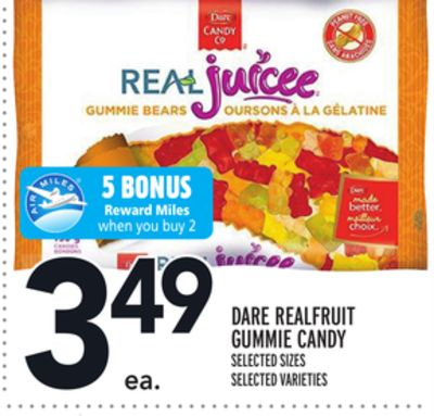 DARE REALFRUIT GUMMIE CANDY