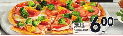 FRESH 2 GO SPICY VEGGIE PERSONAL PIZZA