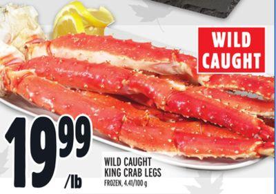 WILD CAUGHT KING CRAB LEGS