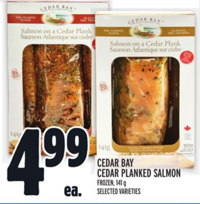 CEDAR BAY CEDAR PLANKED SALMON