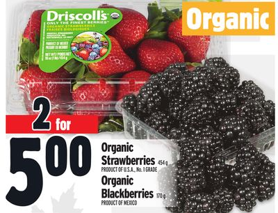 Organic Strawberries or Organic Blackberries
