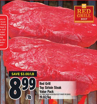 Red Grill Top Sirloin Steak Value Pack