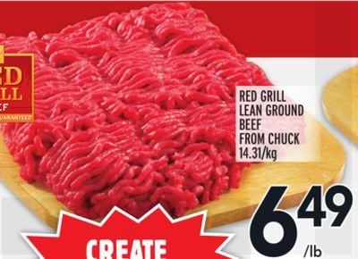 CREATE RED GRILL LEAN GROUND BEEF FROM CHUCK