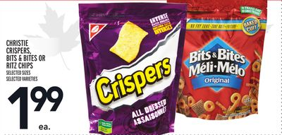 CHRISTIE CRISPERS, BITS & BITES OR RITZ CHIPS