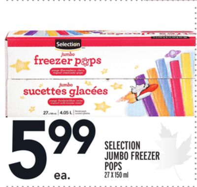 SELECTION JUMBO FREEZER POPS