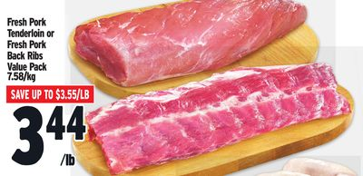Fresh Pork Tenderloin or Fresh Pork Back Ribs Value Pack