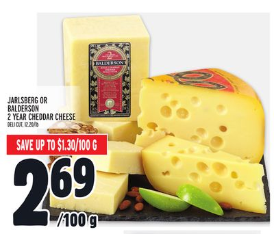JARLSBERG OR BALDERSON 2 YEAR CHEDDAR CHEESE