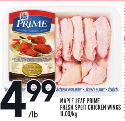 MAPLE LEAF PRIME FRESH SPLIT CHICKEN WINGS