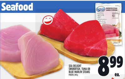 SEA DELIGHT SWORDFISH, TUNA OR BLUE MARLIN STEAKS