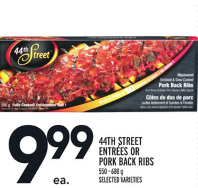 44TH STREET ENTRÉES OR PORK BACK RIBS