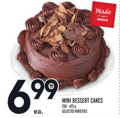MINI DESSERT CAKES