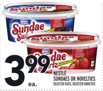 NESTLÉ SUNDAES OR NOVELTIES