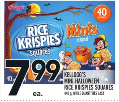 KELLOGG'S MINI HALLOWEEN RICE KRISPIES SQUARES