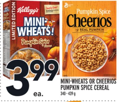 MINI-WHEATS OR CHEERIOS PUMPKIN SPICE CEREAL