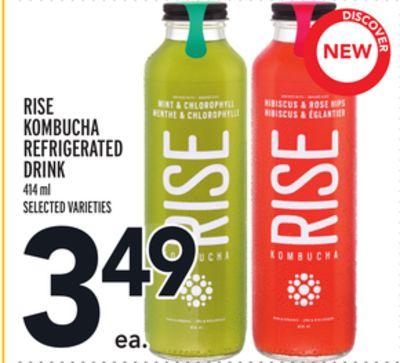 RISE KOMBUCHA REFRIGERATED DRINK