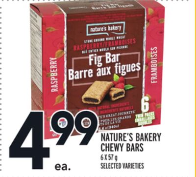 NATURE'S BAKERY CHEWY BARS