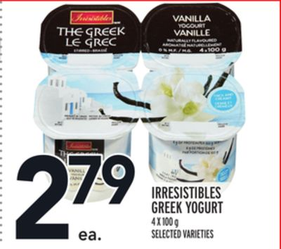 IRRESISTIBLES GREEK YOGURT