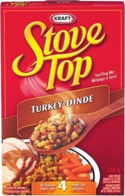 STOVE TOP STUFFING OR CLUB HOUSE GRAVY MIX OR FRANCO AMERICAN GRAVY