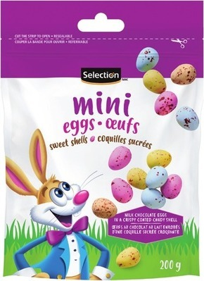 SELECTION MILK CHOCOLATE OR MINI EGGS