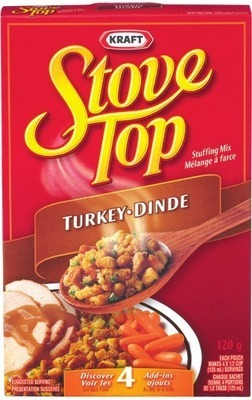 STOVE TOP STUFFING OR CLUB HOUSE GRAVY MIX, FRANCO-AMERICAN GRAVY