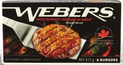 WEBERS BEEF BURGERS