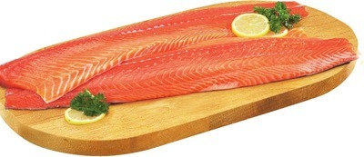 FRESH ORGANIC CHINOOK CANADIAN SALMON FILLETS