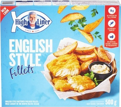 HIGH LINER BREADED OR BATTERED FILLETS OR PACIFIC SALMON