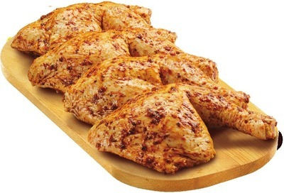 FRESH CHICKEN LEG QUARTERS FIVE SPICE MARINATED VALUE PACK