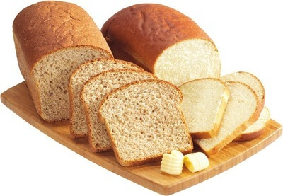 HOMESTYLE WHITE BREAD, WHOLE GRAIN BREAD OR WHOLE WHEAT BREAD