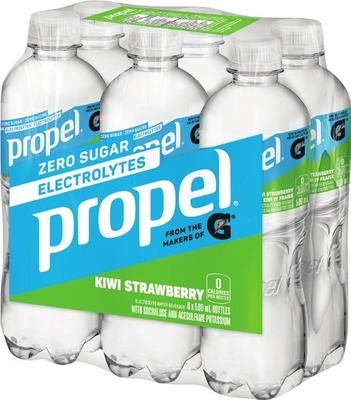 PROPEL OR EVIAN SPARKLING WATER