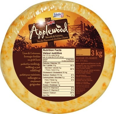 IMPORTED ILCHESTER APPLEWOOD SMOKED CHEDDAR
