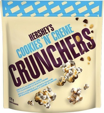 HERSHEY'S CRUNCHERS OR POPPED MIX CHOCOLATE BAGS