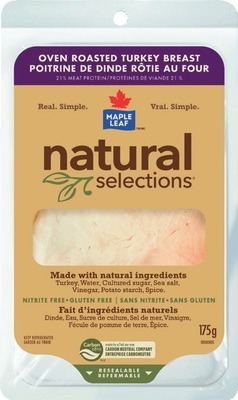 MAPLE LEAF NATURAL SELECTIONS SLICED DELI MEAT, SCHNEIDERS GERMAN SALAMI OR BOTHWELL CHEESE