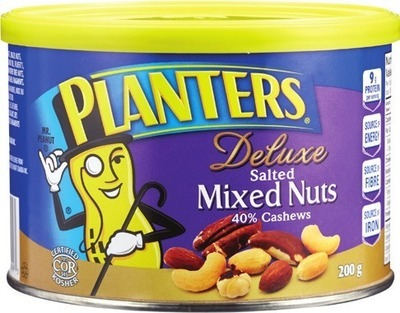 PLANTERS CASHEWS, MIXED NUTS, ALMONDS OR SELECTION PEANUTS
