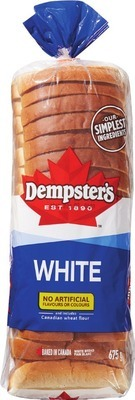 DEMPSTER'S WHITE OR WHOLE WHEAT BREAD, HOT DOG, HAMBURGER OR SIGNATURE BUNS