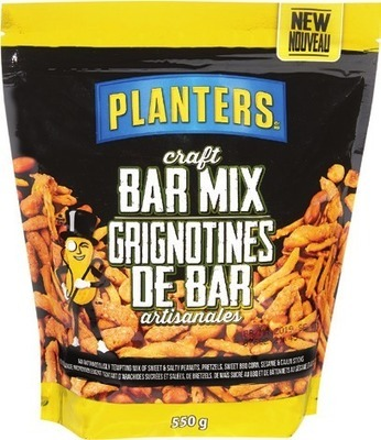 PLANTERS CRAFT BAR MIX OR ALMONDS