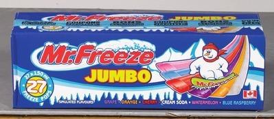 MR. FREEZE JUMBO FREEZE POPS OR WELCH'S LEMONADE GIANT FREEZIES