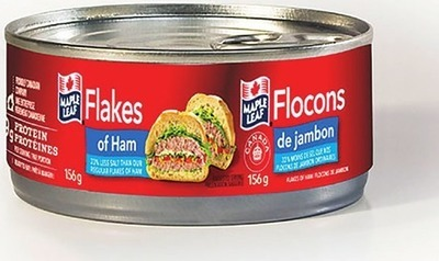 MAPLE LEAF FLAKES OR HOLIDAY LUNCHEON MEATS