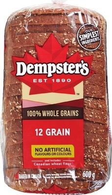 DEMPSTER'S WHOLE GRAIN BREADS, BAGELS, HOT DOG OR HAMBURGER BUNS