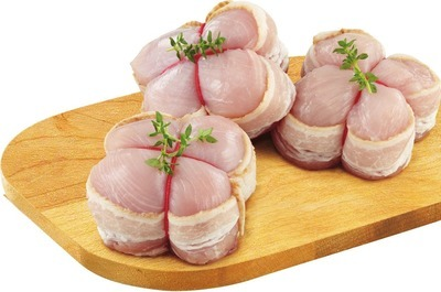 BACON WRAPPED TURKEY OR CHICKEN BREAST MEDALLIONS
