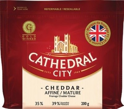 CATHEDRAL CITY MATURE OR EXTRA MATURE CHEDDAR CHEESE, WOOLWICH CHEDDAR OR MOZZARELLA GOAT CHEESE OR MADAME CHÈVRE GOAT CHEESE