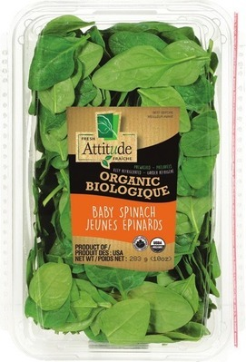 ORGANIC ATTITUDE BABY SPINACH OR SPRING MIX